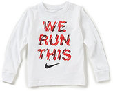 Nike Little Boys 4-7 We Run This Long-Sleeve Tee