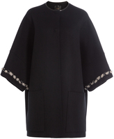 Agnona Cashmere Cape-Coat with Mink Fur