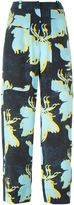 Cédric Charlier floral print cropped trousers