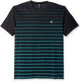Zoo York Men's Short Sleeve Gradient Stripe Crew Knit Shirt