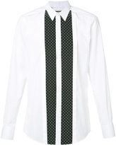 Dolce & Gabbana dotted panel shirt - men - Silk/Cotton - 41