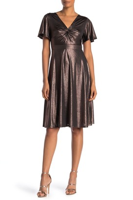 Superfoxx Short Sleeve Front Knot Dress