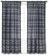 "Mudhut Maison Stripe Curtain Panel with Tassels - Blue (55""x84"")"