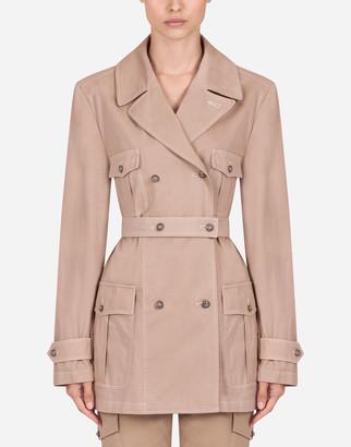 Dolce & Gabbana Double-Breasted Cotton Safari Jacket
