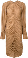 Nina Ricci gathered midi dress - women - Silk - 36