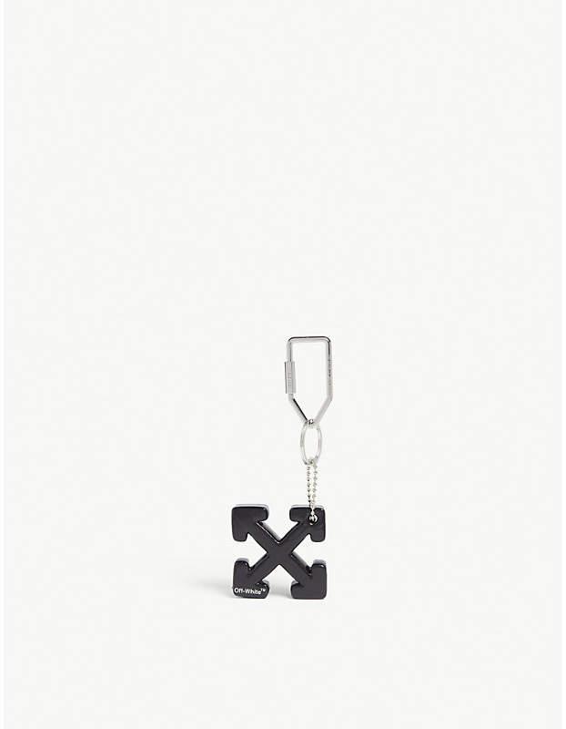 Off-White Arrow logo rubber keyring