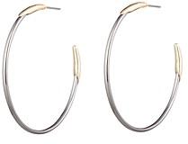 Alexis Bittar Woodland Fantasy Two-Tone Hoop Earrings