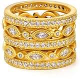 Freida Rothman Marquise Eternity Rings, Set of 5