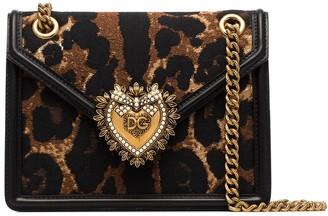 Dolce & Gabbana Devotion leopard-print shoulder bag