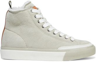 Rag & Bone Rb Shearling-lined Suede High-top Sneakers