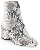 Robert Clergerie Almond Toe Snakeskin Booties