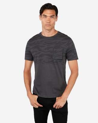 Express Camo Print Heat Sealed Pocket Jersey T-Shirt
