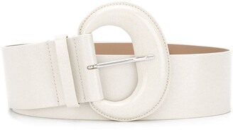 B-Low the Belt Curved Buckle Leather Belt
