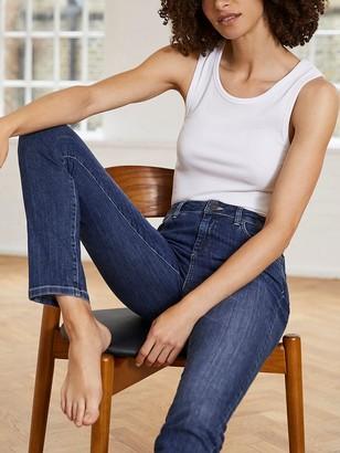 Mint Velvet Houston Turn Up Jeans, Blue