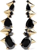 Noir Arctic Ice gold-tone cubic zirconia earrings