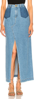 Sea Maxi Slit Denim Skirt