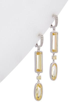 Judith Ripka Silver 12.30St. Tw. Gemstone Cz Earrings