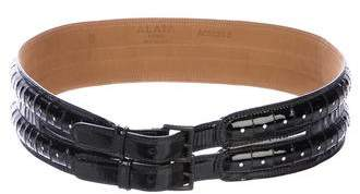 Alaia Patent Leather Waist Belt