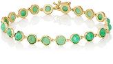Irene Neuwirth Women's Gemstone Round-Link Bracelet-GREEN, NO COLOR