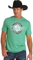 Cinch Men's Green Logo Screen Print T-Shirt