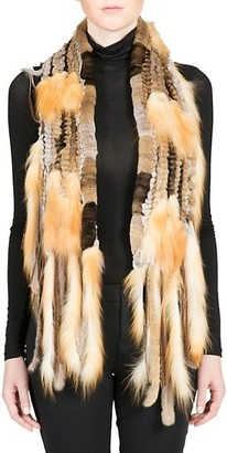 Belle Fare Rabbit Fox Fur Scarf