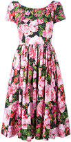 Dolce & Gabbana rose print dress - women - Cotton - 46