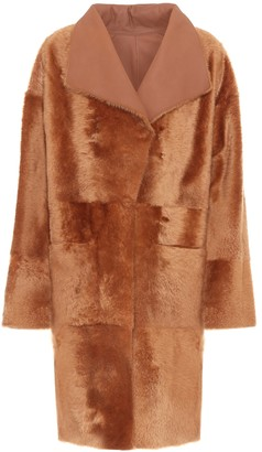 Spring reversible shearling coat