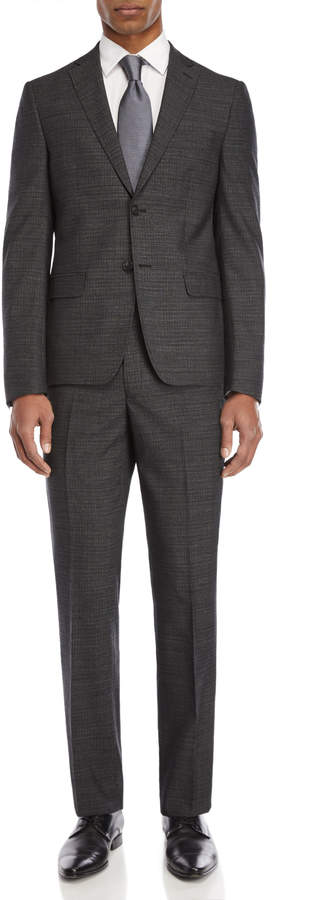 DKNY Grey & Black Pin Dot Wool Suit