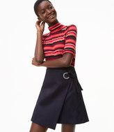 LOFT Faux Suede Grommet Wrap Skirt