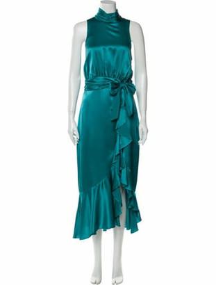 Cinq à Sept Mock Neck Long Dress w/ Tags Blue