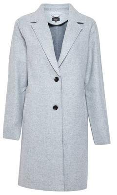 Dorothy Perkins Womens Only Grey Crombie Coat, Grey