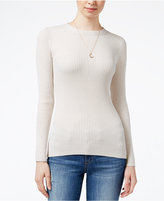 Hooked Up by Iot Juniors' Fitted Rib-Knit Sweater