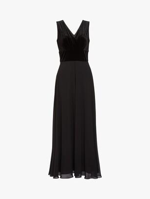 Gina Bacconi Eartha Velvet Chiffon Dress