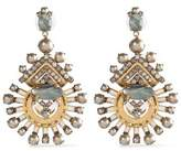 Elizabeth Cole Gold-Tone Faux-Pearl Crystal And Stone Earrings
