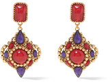 Erickson Beamon Hunky Dory Gold-plated Swarovski Crystal Earrings - one size