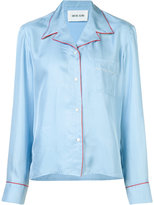 Michel Klein contrasting shirt - women - Silk - 36