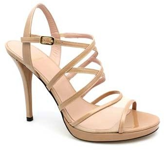 "Stuart Weitzman Yeah"" Nude Patent Leather Sandal"