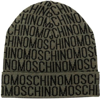 Moschino All Over Logo Beanie