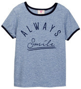 Hip Always Smile Ringer Tee (Big Girls)