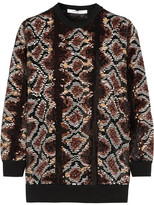 Givenchy Sweater In Python Sequined Silk-chiffon - Brown