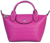 Longchamp Mini La Pliage Cuir Top Handle Bag