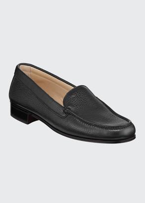 Gravati Pebbled Leather Venetian Loafer