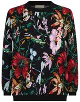 Gucci Embellished Floral Sweater
