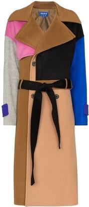 Ader Error Colourblock Double-Breasted Coat