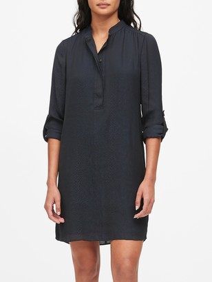 Banana Republic Print Utility Popover Shirtdress