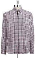 Stone Rose Woven Plaid Sport Shirt