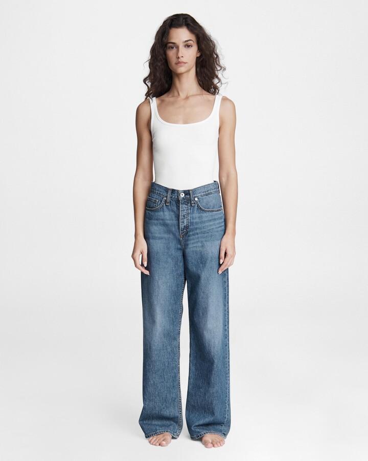Thumbnail for your product : Rag & Bone Logan low-rise wide leg jean