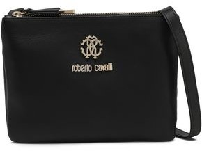 Roberto Cavalli Trio Logo-embellished Leather Shoulder Bag