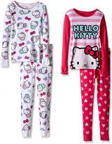 Komar Kids Big Girls' Hello Kitty 4 Piece Cotton Set
