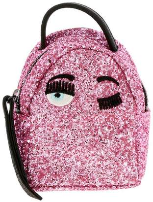 Chiara Ferragni Backpack Extra Mini Backpack In Glitter Fabric With Embroidery